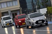 今回は、トップレベルの燃費を誇る「トヨタ・アクア」「スズキ・アルト」「スズキ・ワゴンR」の3台をテストした。