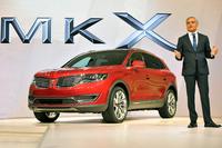 2015年のデトロイトショーで発表された、新型「リンカーンMKX」。