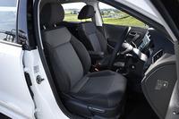 テスト車のフロントシートにはオプションのシートヒーターが装備されていた。