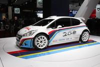 「プジョー208R5」。WRCのS2000カテゴリー向けのラリーカー。