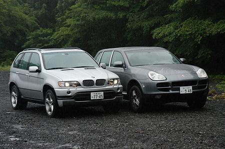 ポルシェ・カイエンS(6AT)vs BMW X5 4.6is(6AT)【短評(前編)】
