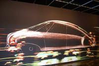 2005年パリで開催されたDS50周年展で。回廊に展開されたDSの初期スケッチ。