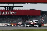 ヤルノ・トゥルーリが4番グリッドにつけたトヨタ。表彰台の一角を目指したが、スタートで失敗し、ハンドリングにも難ありで、キミ・ライコネンを何とか抑えての7位完走。ティモ・グロックは9番グリッドから9位完走で得点ならず。(写真=Toyota)