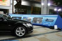 メルセデスの環境技術とスポーティモデルを展示の画像