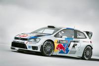 「フォルクスワーゲン・ポロR WRC」。テストカーと比較して前後フェンダーがより張り出しており、リアウイングの造形が見直されている。