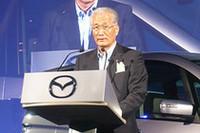 マツダの井巻久一代表取締役会長兼社長の挨拶では、「発売前から3000台の注文を受けた」とビアンテの商品力に自信あふれるコメントが聞かれた。