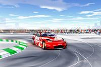 走るレーシングマシンを間近で見る機会はそう多くはない。お台場の特設会場には、デモ走行用のスペースが用意され、来場者は迫力あるマシンの動きを楽しむことができるという。