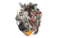スズキが自社開発した「E08A型ディーゼルエンジン」。