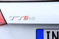 「TT」をベースにアウディスポーツ社が仕立てた高性能スポーツモデルが「TT RS」。日本では2017年3月28日に発表された。