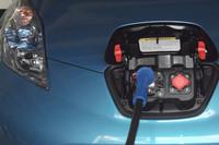 送電は、急速充電ポートに接続して行う。