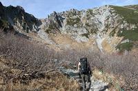 稜線までは、時間、距離にするとさほどではないが、斜面が急なため、キツイ。