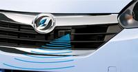 スマートアシストの機構は基本的に「ムーヴ」と同じ。センサーにはフロントグリル内のレーザーレーダーを用いている。