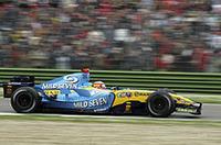 レース後、エンジントラブルをかなり心配していたと告白したアロンソ。土曜予選前までは18周しか走らず、レース中も回転を抑えながら周回を重ねていたという。それでも2番目に速いラップを記録し、見事ハットトリックを達成した。(写真=ルノー)