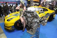 ジュンオートメカニックの「日産GT-R」。VR38DETTエンジンは4.2リッターにまで拡大、最高出力1531.8ps/7340rpm、最大トルク153kgm/6870rpmを記録したという。