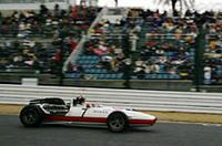 レーシングコースを流すのは、ホンダF1第1期のマシン「RA273」