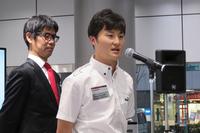 「目標は優勝とシリーズチャンピオン」と意気込みを語る山下健太選手。