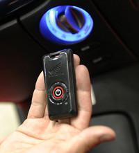 スマートカードキー。キーと車両のIDが一致しないと使えず、盗難防止にも効果的だという。