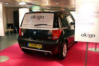 【写真上下】「オキゴ」で使われる「プジョー1007」。 「オキゴ」オフィシャルサイトでは、実際の利用方法が動画で紹介されている。