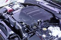 最高出力380psを発生する、「XF S」の3リッターV6スーパーチャージャー付きエンジン。