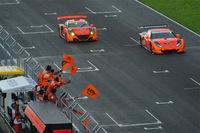 ARTAの2台がランデブー。今年の菅生では、一つのチームによる2階級制覇が実現した。