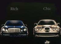 「メルセデスベンツ=金持ち」とは、これまたストレートな表現だ