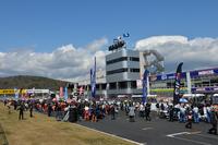 毎年開幕戦が行われる岡山国際サーキット。決勝の天気は、晴れから雹(ひょう)まで目まぐるしく変化した。