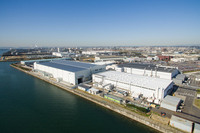 愛知県に位置する、富士重工業航空宇宙カンパニーの半田工場。