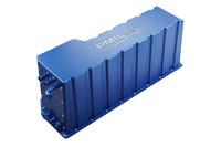 燃料電池スタック。長さ×幅×高さ=836×182×352mmとコンパクトだ。