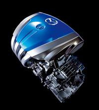 2009年の東京モーターショーで発表された、マツダの次世代ガソリンエンジン「SKY-G」。