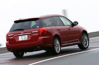 【スペック】 ツーリングワゴン:全長×全幅×全高=4680×1730×1475mm/ホイールベース=2670mm/車重=1500kg/駆動方式=4WD/3リッター水平対向6DOHC24バルブ(250ps/6600rpm、31.0kgm/4200rpm)/価格=330万7500円(テスト車=359万6250円/クリアビューパック+濃色ガラス+LEGACYマッキントッシュ・サウンドシステム=28万8750円)