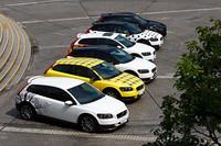 今回特別に用意されたグラフィックカーは6台。膨大な組み合わせの中から日本人が好みそうな6パターンを選んだという。