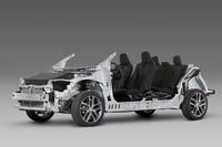 トヨタが「TNGA」に基づいてつくった新しいプラットフォーム。