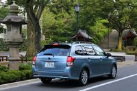 ボディーカラーは全9色の設定。テスト車に採用されていたライトブルーメタリックは、ハイブリッド車(HV)専用色だ。