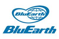 「BluEarth」のマークには、「青い地球」「グローバル展開」「地球を包み込む」などの思いが込められているという。
