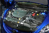 経済性に配慮されたという「MZR 2.5Lエンジン」。