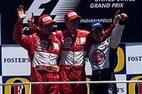 F1アメリカGP、シューマッハー8勝目、佐藤が初表彰台!【F1 04】の画像