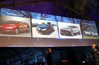 「もっとも美しいコンセプトカー」にノミネートされた4台。ピニンファリーナ社の75周年記念として生まれた「バードケージ 75th」などの競合を押しのけて日本車に贈られた。