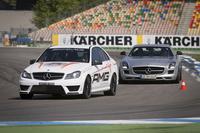 アカデミーで使用される車両は、もちろんすべてAMG。ドイツでは「SLS AMG GT」も用いられる。