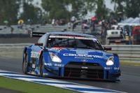 安田裕信/J.P・デ・オリベイラ組の駆る、No.12 カルソニックIMPUL GT-R。最終的に3位でレースを終えた。