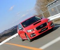 2014年春の発売が予定される、スバルの新型ワゴン「レヴォーグ」。写真はプレス向け試乗会における、1.6リッターモデルのプロトタイプ。