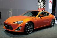 「トヨタ86コンセプト」。スバルと共同開発される新型のスポーツカーだ。