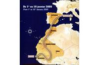 2005年「パリダカ」、1月1日にバルセロナからの画像