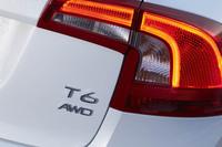リアに装着された「T6 AWD」のバッジ。かつてのボルボでは、アルファベットの後ろの数字はエンジンの気筒数を示したものだったが、現在では最高出力に応じた区分となっており、「T6」は250psより上のエンジンであることを示す。