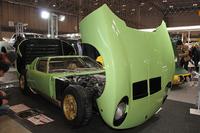 ロードスター・ガレージの「ランボルギーニ・ミウラ」のレプリカ。ベースはNB型「マツダMX-5ミアータ」(「ロードスター」の北米仕様)で、つまりはFRなのである!