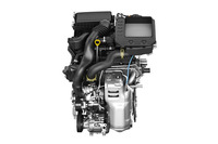新開発となる1リッター直列3気筒ターボエンジン。98psと14.3kgmを発生する。