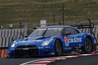 予選で1位だったNo.12 カルソニックIMPUL GT-R(安田裕信/J.P・デ・オリベイラ組)は、決勝でも速さを見せたものの、2位でレースを終えた。