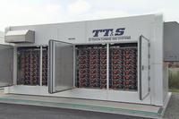 実証実験で用いられている水素製造安定化システム(写真)は、ハイブリッド車「トヨタ・プリウス」の使用済みニッケル水素バッテリーを180個内蔵。「ハマウィング」が停止した場合でも、2日分の水素を供給できる。