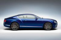 「コンチネンタルGTスピード」には、専用デザインの21インチホイールが与えられる。組み合わされるタイヤは、275/35サイズの「ピレリ Pゼロ」。