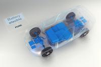 今回ボルボが示した、内燃機関を持たない電気自動車のイメージ。