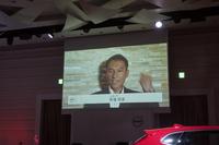 大会への意気込みを語る、競技者のビデオメッセージも上映された。